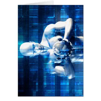 Geschäfts-Technologie-Gesamt-Netzwerk mit Mitteilungskarte