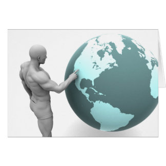 Geschäftsausweitung in Nordamerika-Kontinent Mitteilungskarte