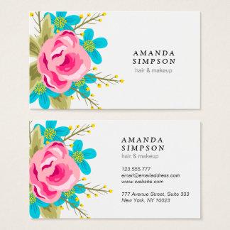 Geschäftskarte mit Blumen Visitenkarte