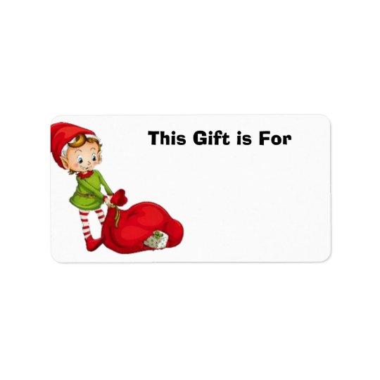 Geschenk-Aufkleber mit entzückendem kleinem Elf Adressaufkleber