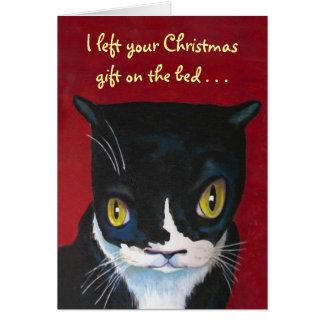 Geschenk der Katze Weihnachts Karte