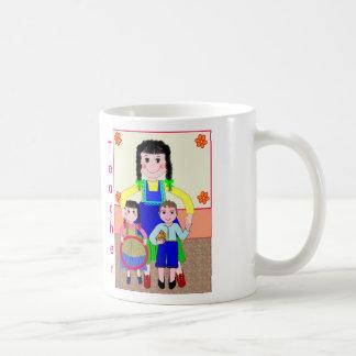 Geschenk für Lehrer: Frauen-Lehrer mit der Tasse