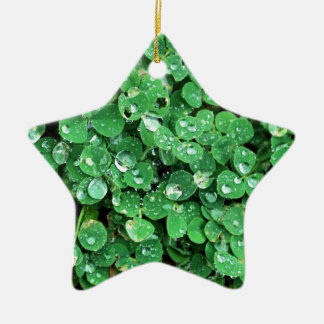 Geschenk-Ideen St. Patricks Tages Keramik Stern-Ornament