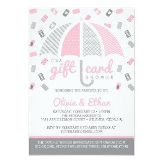 Geschenk Karten Babyparty Einladung, Rosa, Grau Karte