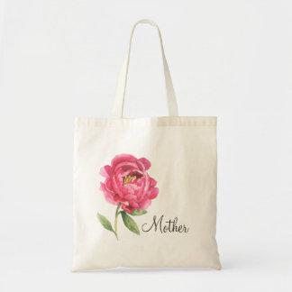 Geschenk-Pfingstrosen-Tasche der Mutter Tages Tragetasche
