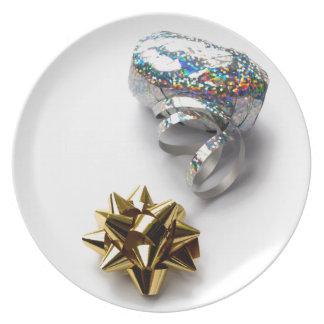 Geschenk-Verpackungs-glänzender Bogen-und Flacher Teller