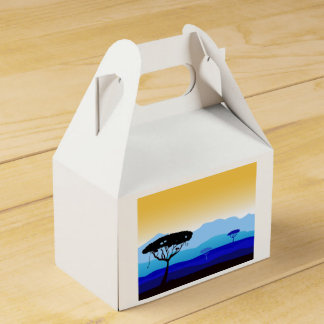 Geschenkboxen: blaues Afrikazeichnen Geschenkkarton