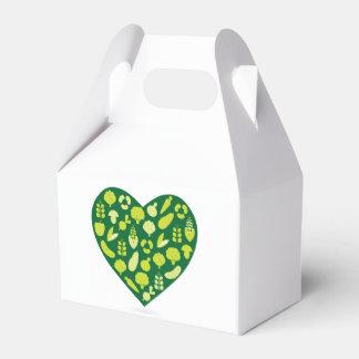 Geschenkboxen mit grünem Herzen Geschenkkartons