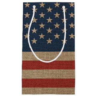 Geschenktasche mit amerikanischer Flagge auf Kleine Geschenktüte