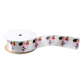 Geschenkverpackung mit Küchenmädchen Satinband