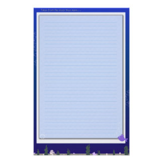 Geschichten vom Blau Briefpapier