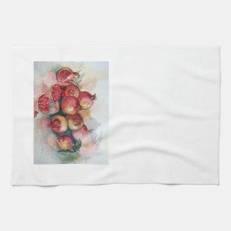 Geschirrtücher mit Granatapfel-Aquarellentwurf Handtuch
