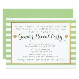Geschlecht decken Party Einladung - klassische