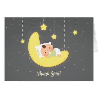 Geschlechts-danken neutraler Funkeln-kleiner Stern Mitteilungskarte