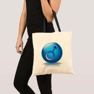 Geschlechts-Mannsymbol der Tasche glattes