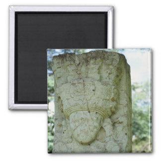 Geschnitzte Felsen-Skulptur-alte Mayaruinen Quadratischer Magnet