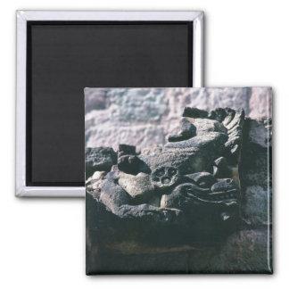 Geschnitzte Steinzahl Mayaruinen Copan Honduras Quadratischer Magnet