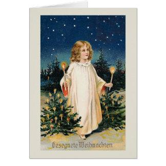 """""""Gesegnete Weihnachten"""" Vintage Weihnachtskarte Karte"""
