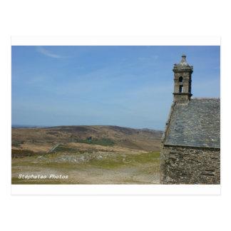 Gesehen auf Monts von Arées die Bretagne Postkarte