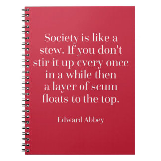 Gesellschaft ist wie ein Eintopfgericht-Zitat Spiralblöcke