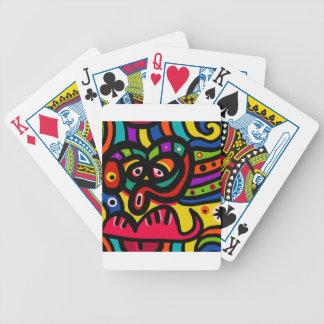 Gesicht Bicycle Spielkarten