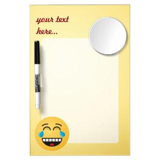 Gesicht mit Rissen der Freude Memo Board
