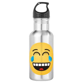 Gesicht mit Rissen der Freude Trinkflaschen