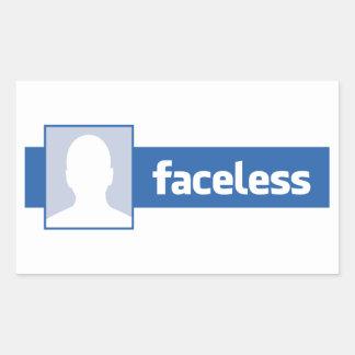 Gesichtslos - anonymer ProfilPic (Mann) Rechteckiger Aufkleber