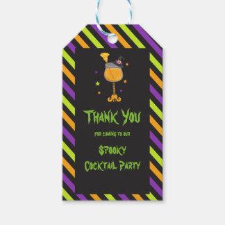 Gespenstisches Cocktail-Party Halloweens Geschenkanhänger
