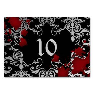 Gespenstisches Thema der Hochzeits-Tischnummer Karte