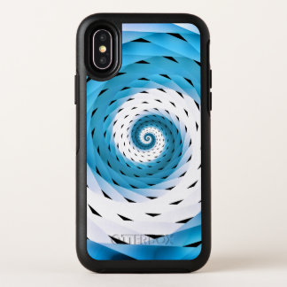 Gesponnenes Wirbles Muster OtterBox Symmetry iPhone X Hülle