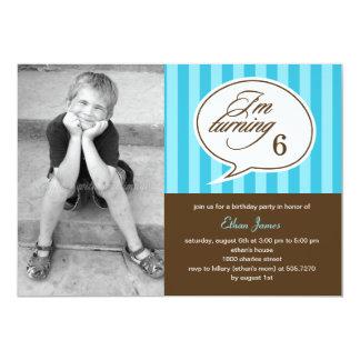 Gesprächs-Blasen-Foto-Geburtstags-Party Einladung