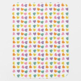 Gesprächs-Süßigkeits-Herz-Baby-Decke Kinderwagendecke
