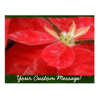 Gesprenkelte rote Poinsettias 1 Postkarte