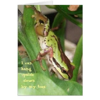 Gesprenkelter Frosch in der Pfeffer-Pflanze Karte
