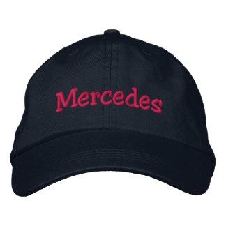 Gestickte Baseballmütze Mercedess Name