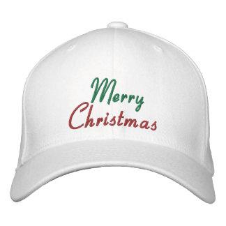 Gestickte frohe Weihnacht-Kappe Bestickte Caps