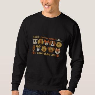 Gestickte i-Liebe sie alle Hunde Bestickter Pullover