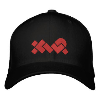 Gestickte schwarze/rote XWP Baseballmütze
