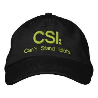 Gestickter Hut CSI: Kann Idioten nicht stehen Baseballkappe