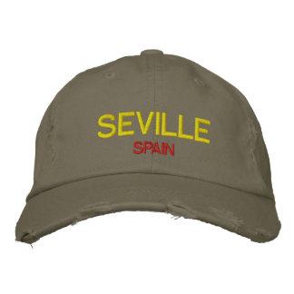 Gestickter Hut Sevillas Spanien Gewohnheit