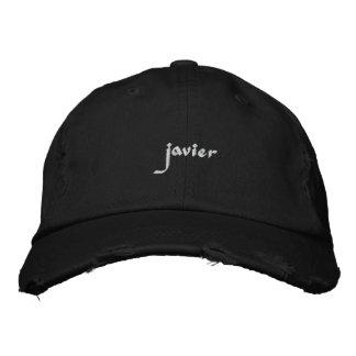Gestickter Hutjavier-Name Besticktes Cap