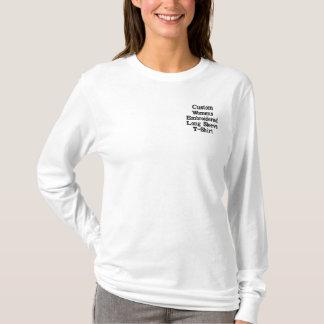 Gestickter langer die Hülsen-T - Shirt der