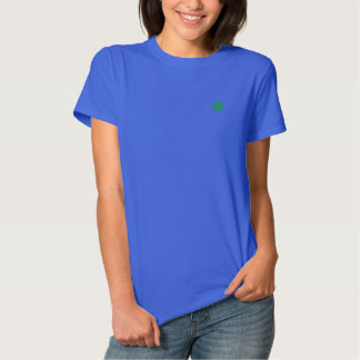Gesticktes irisches das Kleeblatt-Polo der Frauen Besticktes T-Shirt