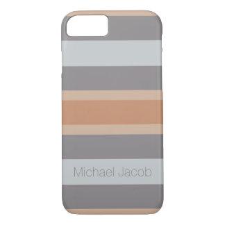 gestreifte neutrale Farbgraues Braun iPhone 8/7 Hülle