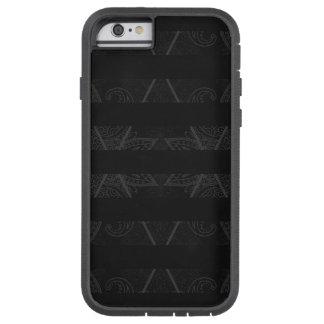 Gestreifte Raute verschönertes Schwarzes Tough Xtreme iPhone 6 Hülle