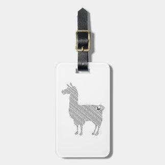 Gestreifter Lama-Gepäckanhänger Kofferanhänger