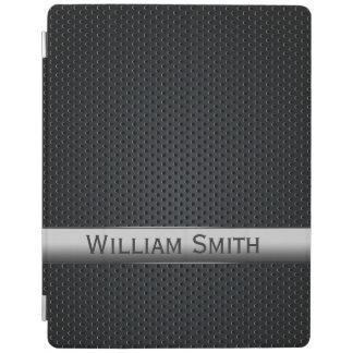 Gestreiftes dunkles Stahlmetall iPad Hülle