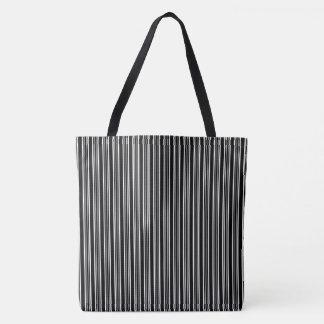 Gestreiftes Muster-Taschen-Schwarzweiss-Tasche