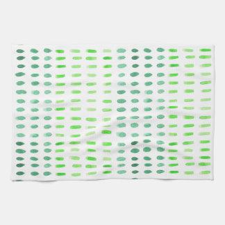 Gestürzt in grüner Tee-Tuch Handtuch